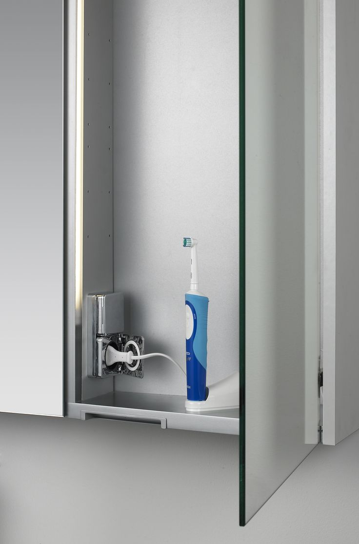 Dansani bathroom mirror cabinet - just the thing to store your electric toothbrush in