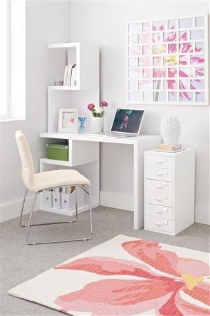 Milano White Desk