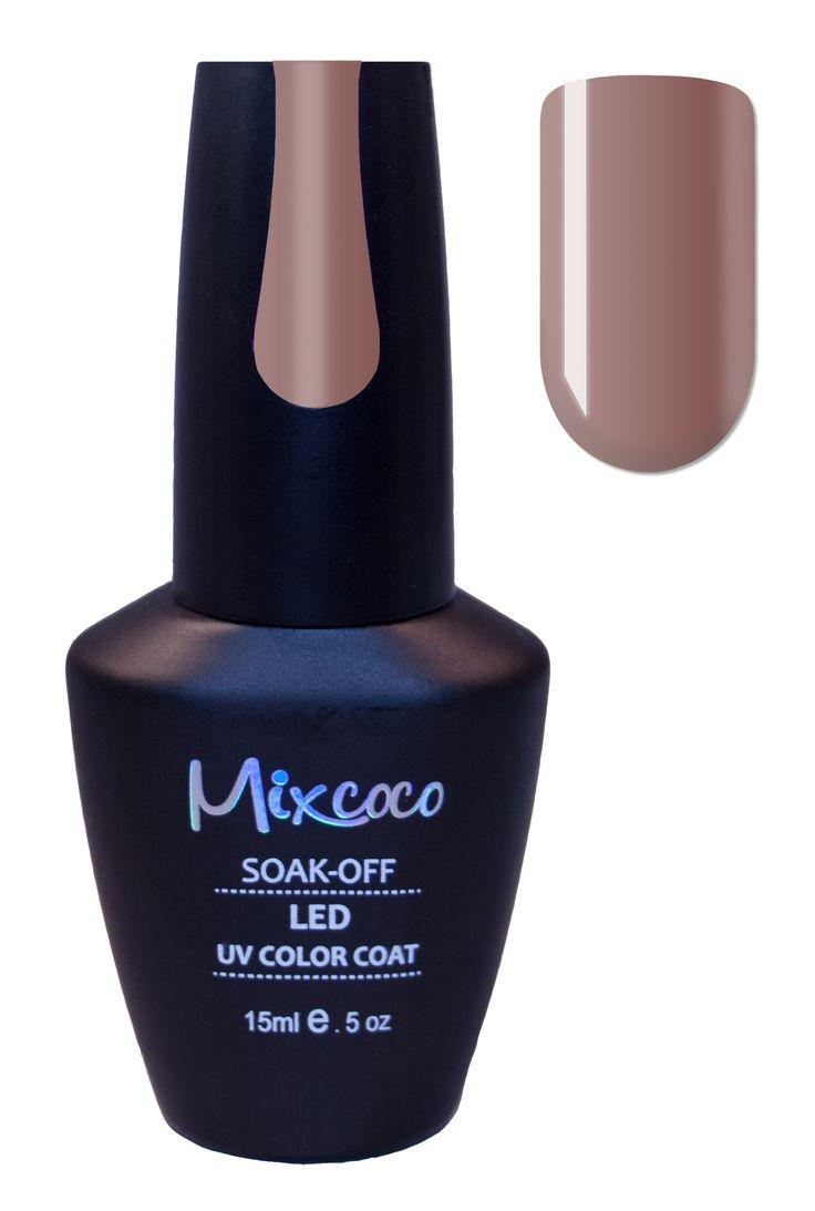 #Gellak #Mixcoco #034 Kaki Brown €14.95 ✨ #nails #gelpolish #gelnails #gelmanicure #gellish #gellac #gelish #manicure #nailspiration #nailinspiration