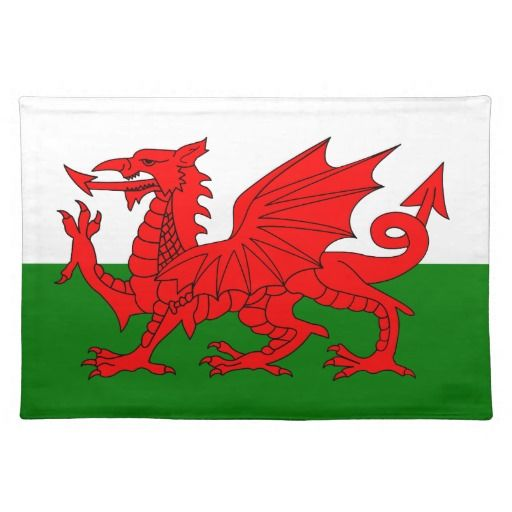 Wales flag placemat - these are super for restaurants that serve intercontinental foods - for example Rarebit, then decorate plates etc to match giving the meal more authenticity.