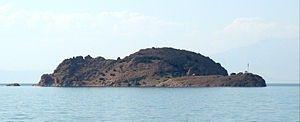 Akdamar Island(Turkish:Akdamar Adası), also known asAghtamar[1][2](Armenian:Աղթամար)[3]orAkhtamar[4][5](Armenian:Ախթամար),[6][7]is the second largest of the four islands inLake Van, in eastern Turkey.