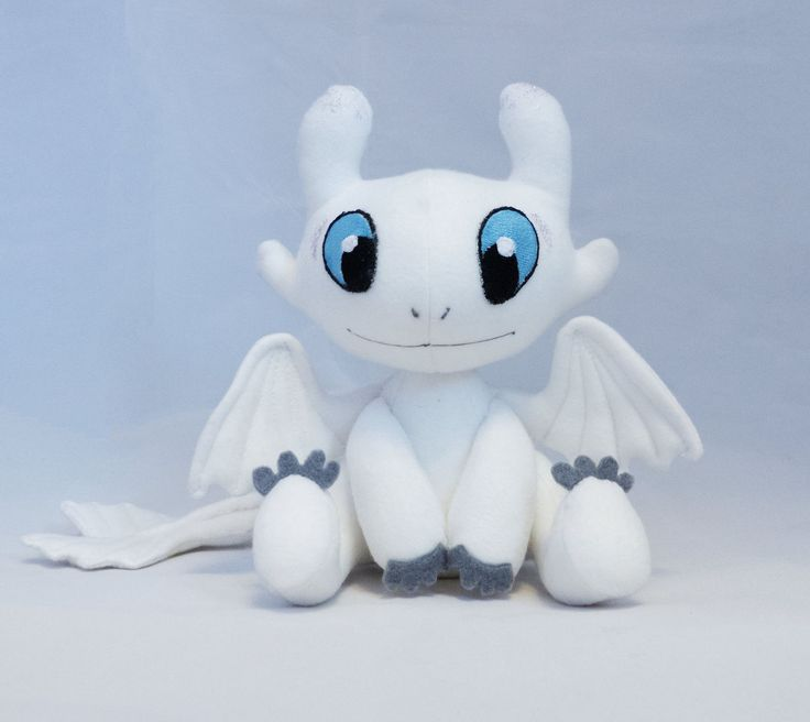 how to train your dragon plush toys light fury