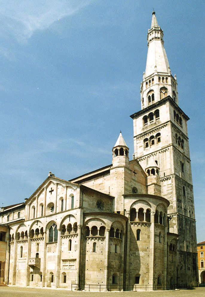 Modena Cathedral. 1184, one of the most important Romanesque buildings in Europe.