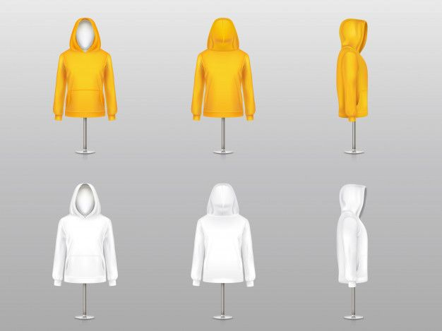 Download Download Set Of Realistic Hoodies On Mannequins And Metal Poles Sweatshirt Model With Long Sleeve For Free 3 D
