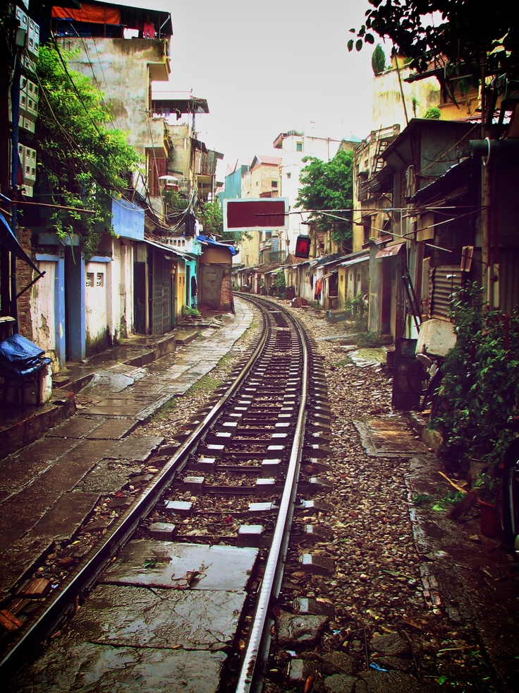 Railroad, Hanoi, Vietnam,,, Gotta follow some train tracks