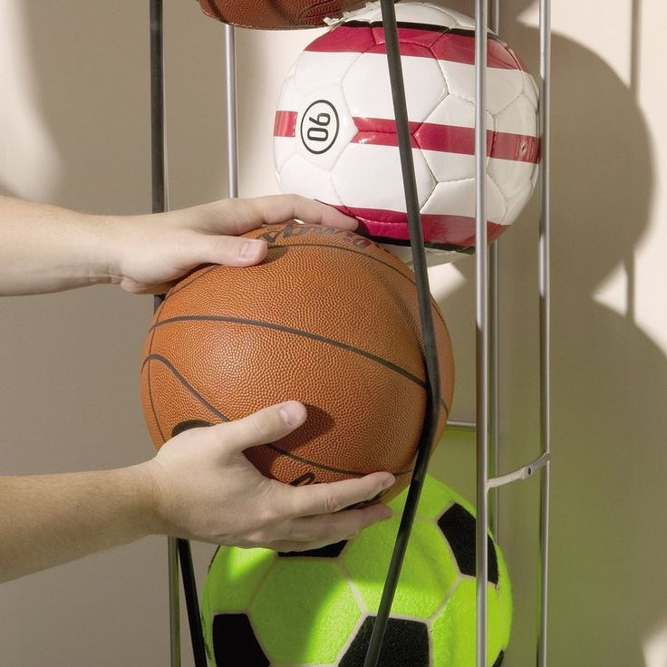 Keep your balls in line with this vertical organizer.
