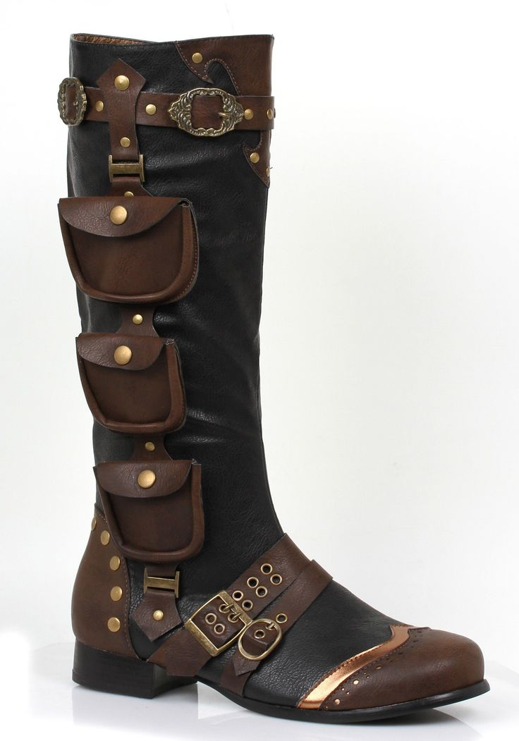 Amazon.com: Ellie mens Mens Steampunk Boots: Clothing