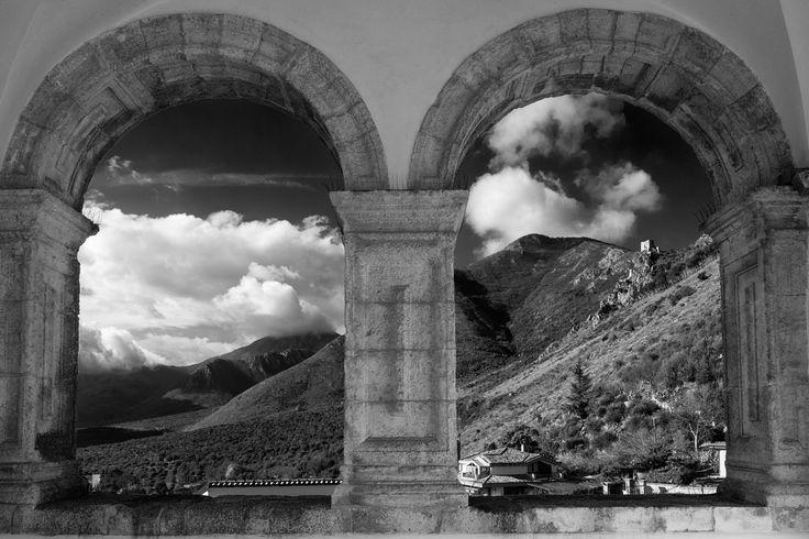 """""""mullioned window"""" from Pandone Castle - Venafro"""