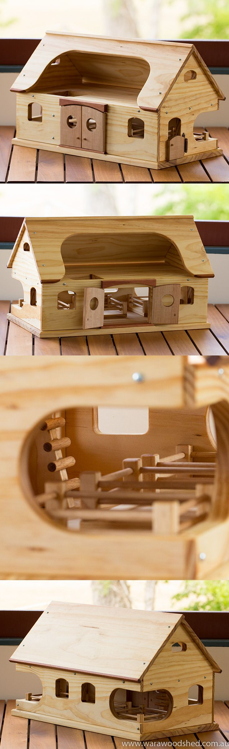 Wooden Toy Farmhouse