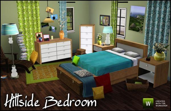 Sims3 Sim Man123 39 S Hillside Bedroom Sims 3 Pinterest