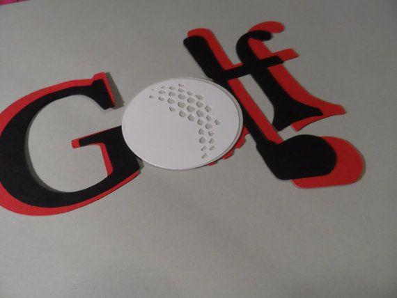 Golf locker decoration  embellishments  scrapbooking by RUBY6000