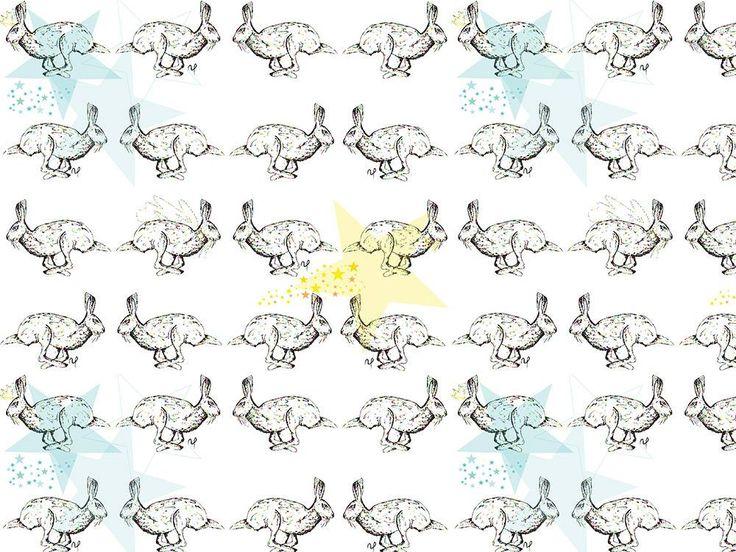 Wzór z katalogu Zwierzęta - Gwiezdny Zając  :) http://cottonbee.pl/tkaniny/zwierzeta/3653-gwiezdny-zajac.html