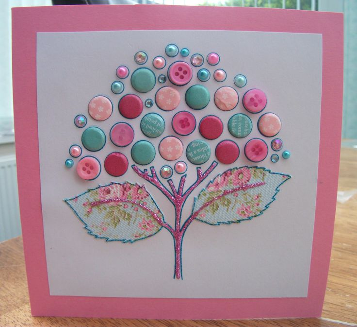 Blank - Made using Woodware Clear Bubble Blooms Christina stamp