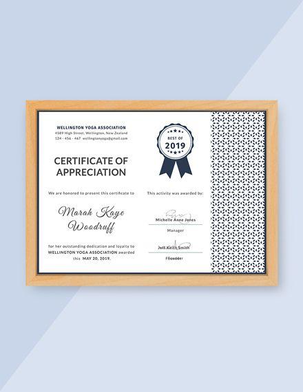 Free Customer Certificate of Appreciation 01 Certificate of