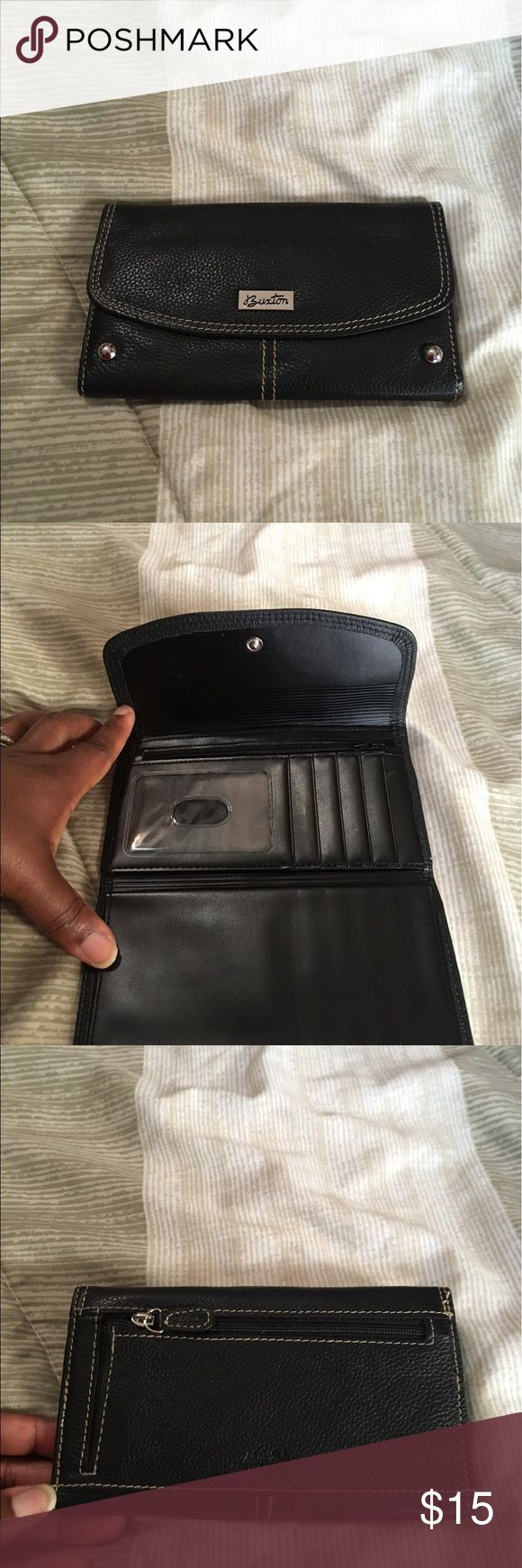 Burton wallet It is  black leather and the condition is excellent Burton Bags Wallets