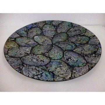 Dish Paua 40cm diameter.
