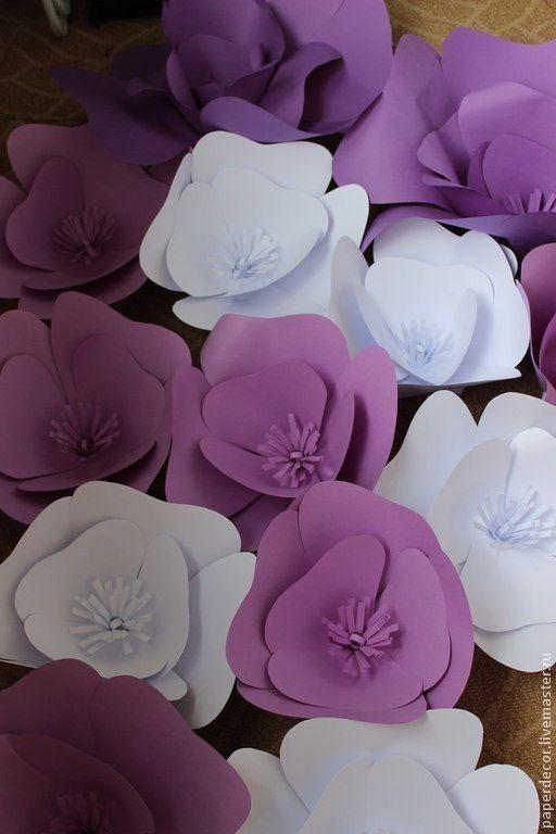 Купить Большие бумажные цветы для праздничного декора - бумажные цветы, цветы ручной работы