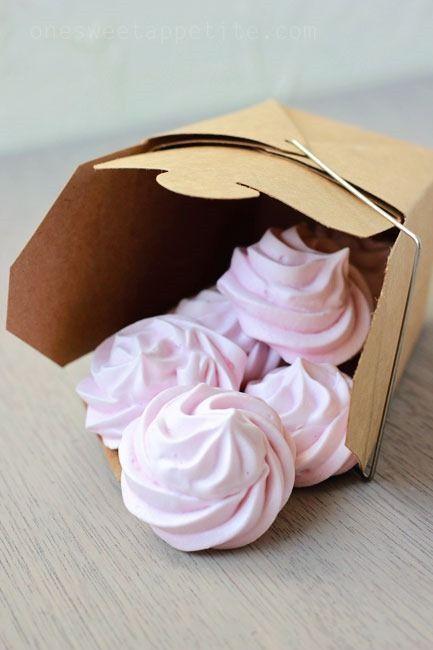 Raspberry Meringue Cookies - Easy To Make Family Recipes | One Sweet Appetite