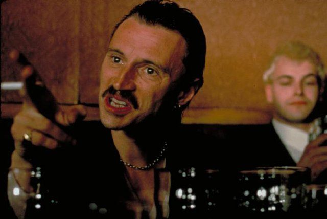Begbie from movie Trainspotting. A short-tempered, violent gang leader  and a failure at intimidating his own gang from stealing his cut.