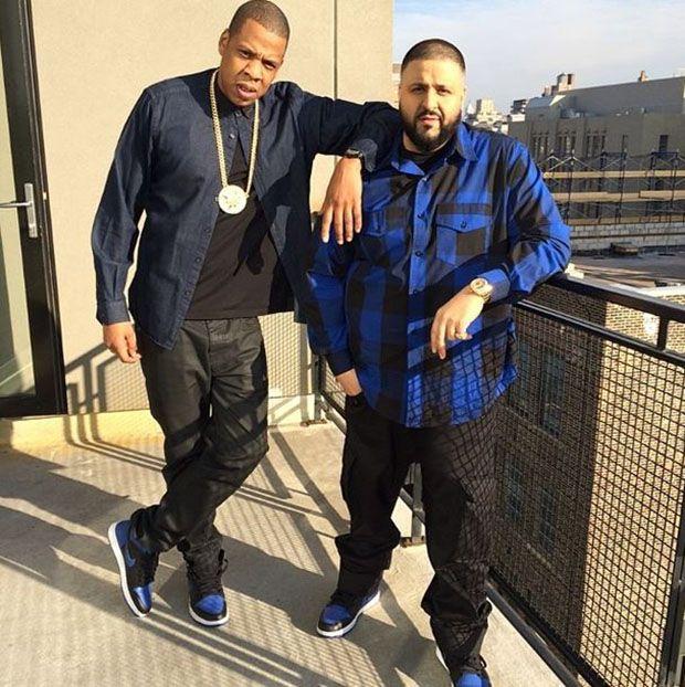 Jay Z and DJ Khaled in the Air Jordan 1 Black/Royal
