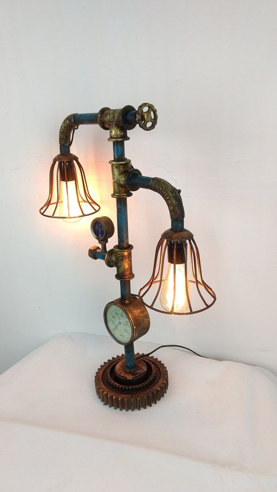 3550 best steampunk lamps images on pinterest steampunk lamp machine age and lamp light. Black Bedroom Furniture Sets. Home Design Ideas