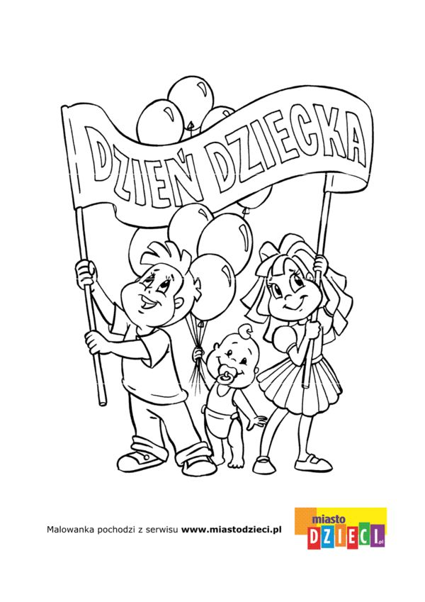 Dzień Dziecka - kolorowanki dla dzieci