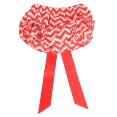 Hang-Qiao Baby Bloomers Bowknot Girls Shorts Briefs Toddler Diaper Cover (Red)