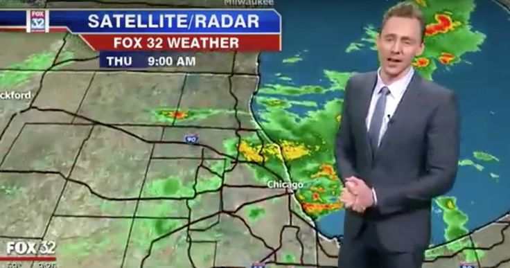 Watch 'Thor' Star Tom Hiddleston Deliver the Local Weather Report -- Tom Hiddleston appeared on Fox 32 to bring the Great Lakes his 'Weather Authority' report alongside Meteorologist Mike Caplan. -- http://movieweb.com/thor-tom-hiddleston-weather-report-chicago-video/