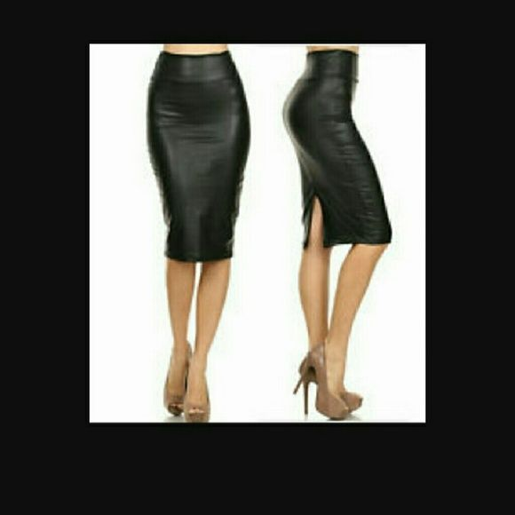 ..Pencial skirt Faux leather pencil skirt Skirts A-Line or Full
