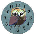 Custom Rustic Owl Birthday Party Wallclock  #Birthday #BirthdayParty #Custom #Party #Rustic #RusticClock #Wallclock The Rustic Clock