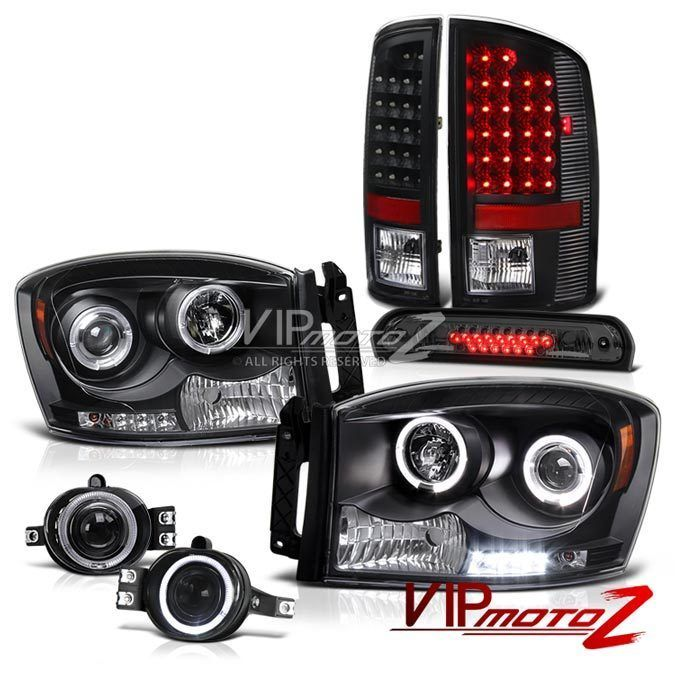 2007 2008 Dodge Ram 2500 Black Halo LED Headlights Taillights Foglamps Smoke 3rd | eBay Motors, Parts & Accessories, Car & Truck Parts | eBay!