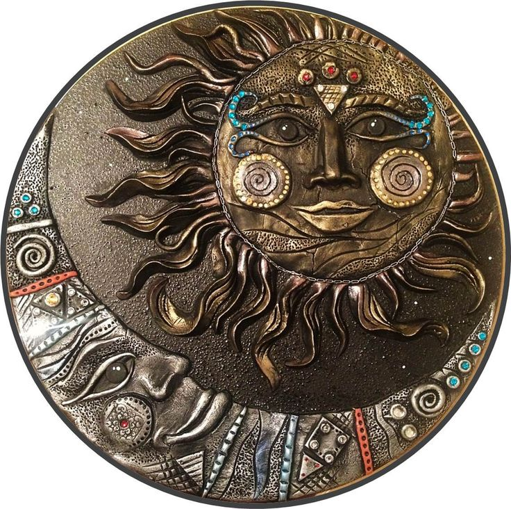 Fantastic Sun & Moon composition for your mystic style / Universe art / Sun and Moon / Moon art / The Moon / The Sun / Wall decor / Gifts by DOSHE on Etsy