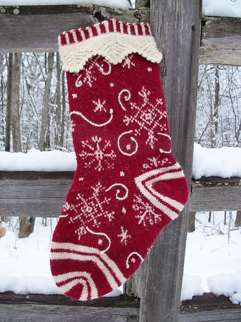 62 Best Christmas Stockings Images On Pinterest Knitting Patterns