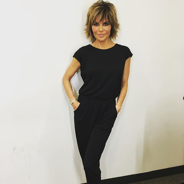 This jumpsuit is EVERYTHING from my #LisaRinnaCollection. Coming up on @QVC live from #nyfw ❤️❤️❤️ keep calling the navy and dark taupe are still avail!  It looks great on ALL SIZES PETITE TOO! #fashion #fashionweek