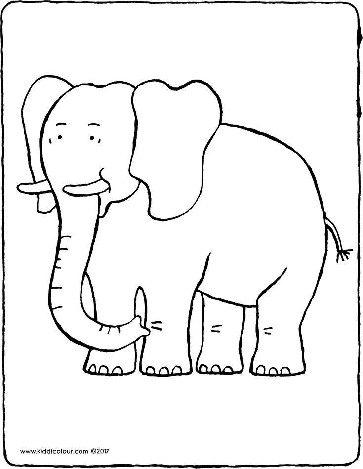 Elefant Kiddimalseite Elefant Ausmalbild Ausmalbilder Ausmalen
