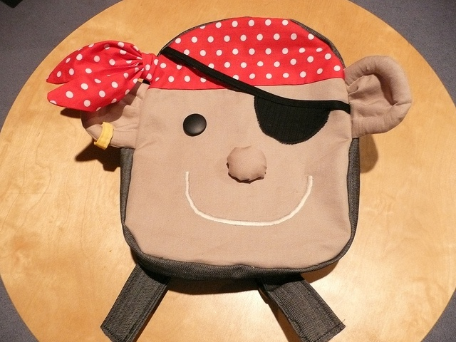 Backpack from Little Things to Sew made into a pirate! ARRRgh.
