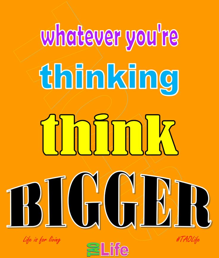 think big and kick in business and life
