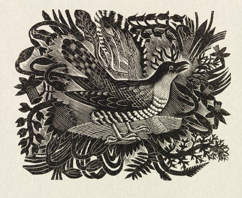 Spring, by Eric Ravilious (1903-42), from the prospectus of The Cornhill Magazine. Wood engraving. UK, 1935.