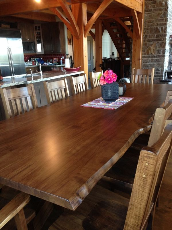 11ft Live Edge Table Smooth Wormy Maple Barnboard Stain87 best Live edge table images on Pinterest   Tables  Wood and  . Maple Wood Dining Room Furniture. Home Design Ideas