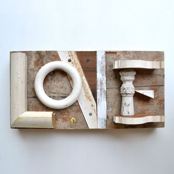 L O V E  from architectural salvage  by Elizabeth Rosen. Found via http://babylonsistersshakeit.blogspot.com/