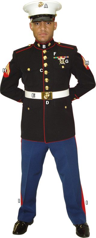 marine dress blues pic | USMC Dress Blues Minecraft Skin