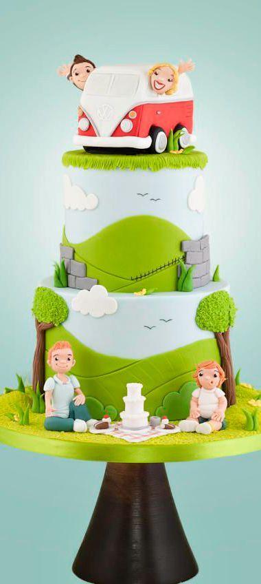 Campervan Wedding Cake