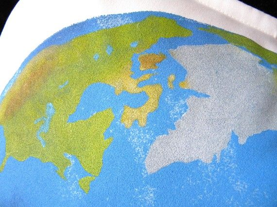 Outdoor pillow earth 20 planet world Earth Day Red by crabbychris, $41.00