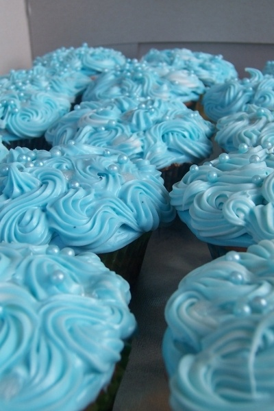Blue Water Cupcakes By Lydia227 on CakeCentral.com  I made these for a birthday party, this is my profile on cake central.com