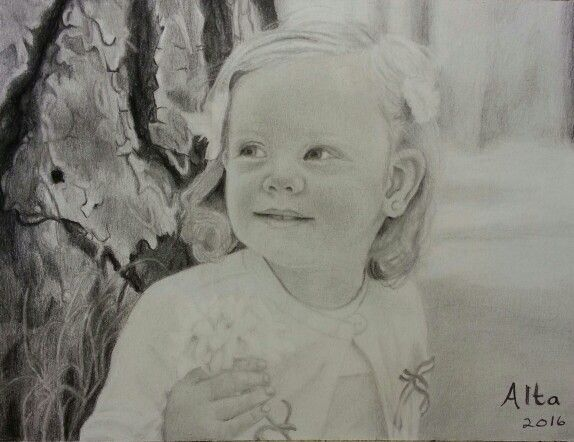 Madison in graphite. Two years old