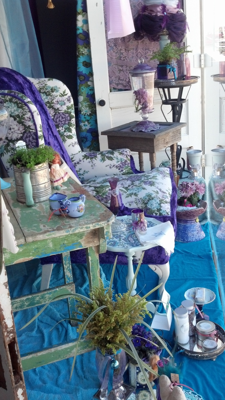 window display - some purple love