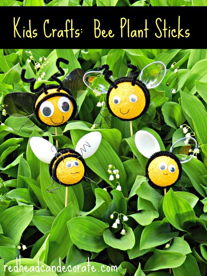 Bee Flower Pot Plant Sticks