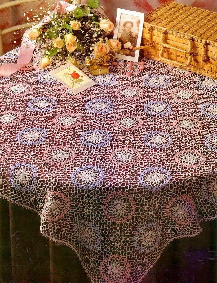 Crochet Art: Crochet Tablecloth Pattern - Beautiful Lace