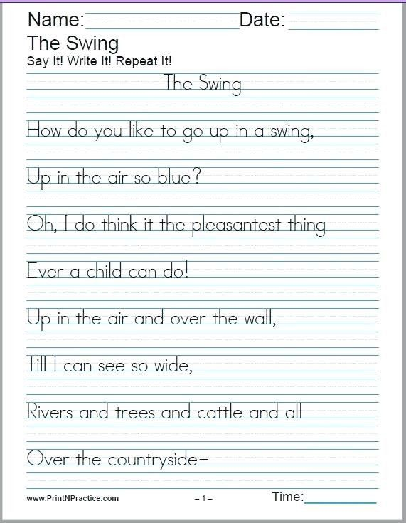 Kindergarten Sentence Writing Practice Worksheets Practice Writing  Workshee… Handwriting Worksheets, Free Handwriting Worksheets, Printable  Handwriting Worksheets