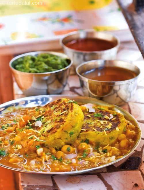 Ragda Patties ( Gujarati Recipe ) recipe | Gujrati Recipes | by Tarla Dalal | Tarladalal.com | #558